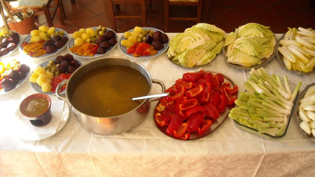 Bagna cauda agriturismo gallina novembre domenica pranzo