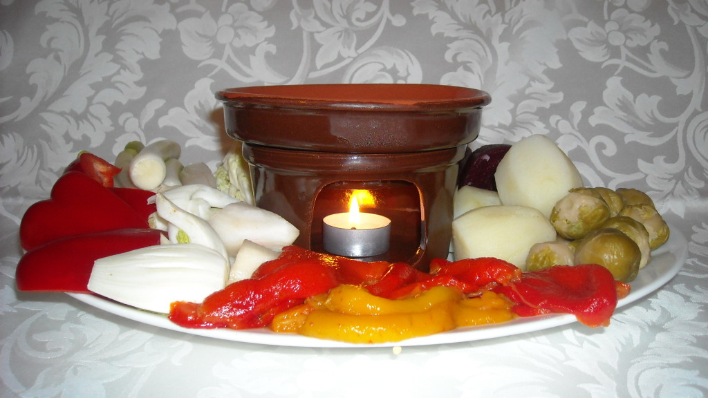 Bagna càuda leggera con pane e verdure di stagione la cascata