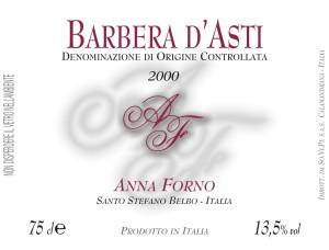 Barbera Linea 'Anna Forno' 2000